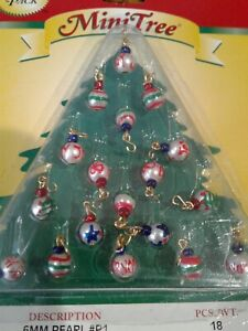 WESTRIM Mini Tree CHRISTMAS HOLIDAY 6 mm Pearl Ornaments 18 pc New in Package