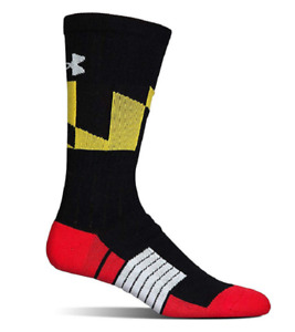 Under Armour Adult Unrivaled Crew Socks, 1 Pair Black size LG $9.97