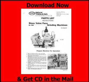 Sioux Model 680 Valve Grinder Instruction & Parts Manual on CD  $7.25