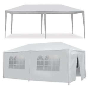 10 x 20#x27; Gazebo Party Tent with 6 Side Walls Wedding Canopy Cater Events Outdoo