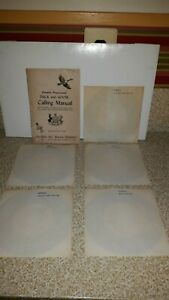 Vtg 1957 Herter's Duck Goose Game Call Manual 5 Records 45's Elk Deer Quail Crow