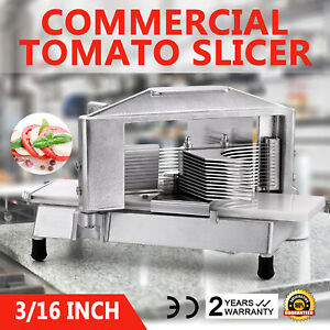 Commercial Tomato Slicer Vegetable Chopper Dicer Cutting Industrial 3/16
