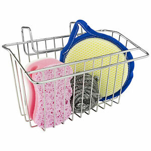 Over The Sink Sponge Holder Kitchen Gifts Gadgets Soap Caddy Sponges Dry Chrome