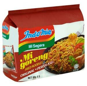 2 packs 80g x 5 pcs INDOMIE MI GORENG ORIGINAL FRIED NOODLES HALAL FOOD