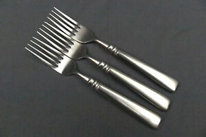 3 x Oneida Motif Cube Mark Stainless Dinner Fork 8 1/8