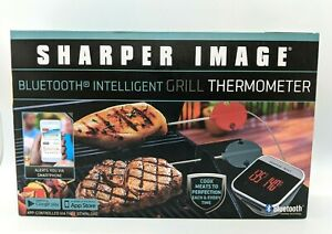 Bluetooth Grill Thermometer Sharper Image New Sealed in Box Grilling Meat Temp