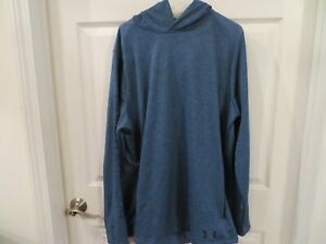 NWT Mens Blue Under Armour Cold Gear Hoodie M $33.99