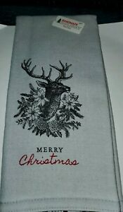 Merry Christmas Beautiful Deer Kitchen Towels 16x26 inches NWTS