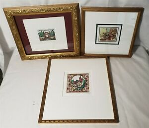 LMAS ~ JE Fischer Signed Color Etchings Portal II & Other Framed Lithograph $34.99