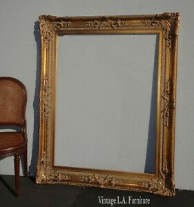 Large Ornate 60quot;H x 48quot; Vintage French Provincial Gold Picture Frame $850.00