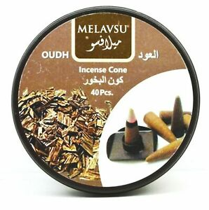 Melavsu Oudh Incense Cone 40pcs 100% Natural FREE SHIPPING
