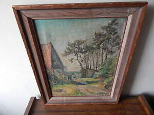 SIGNED 1940'S HEINRICH HOYER OIL ON CANVAS GERMAN PAINTING INTERNATIONAL SALE