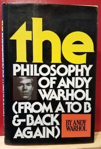 Philosophy of Andy Warhol SIGNED w Soup Can Drawing 1st  1st HC DJ Pop Culture