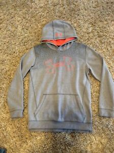 Under Armour Youth Hoodie Gray & Orange Size XL Very Nice! $12.99