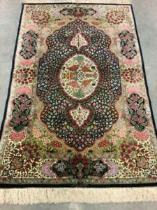 Super Fine Signed Authentic Hand Knotted silk rug 3'x5' $2890.00