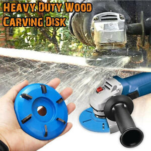 6 Teeth Power Wood Carving Cutter Disc Milling Attachment Tool For Angle Grinder