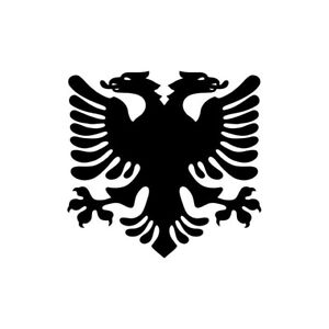 2x Albanian Flag eagle Vinyl Decal Sticker Different colors & size for Cars/Bike