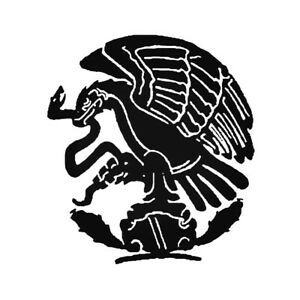 2x Mexican Flag eagle Vinyl Decal Sticker Different colors & size for Cars/Bikes