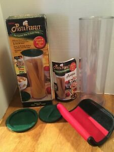 Pasta Perfect Pot Container Cooking Tube Pasta / Vegetables Countertop Camping