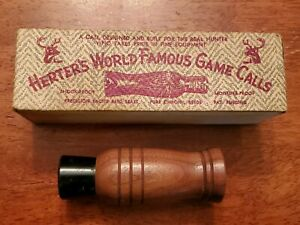 VINTAGE HERTER'S WORLD FAMOUS # 903 MASTER DEER HUNTING GAME CALL  BOX USA
