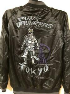 Punk Drunkers Mechagodzilla King Ghido Sukajan Satin Jacket Souvenir from Japan