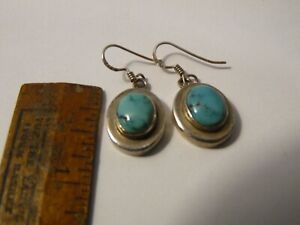 925 Sterling Earrings Dangles with stone turquoise?