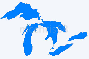 Michigan Great Lakes Vinyl Decal Window Sticker - You Pick Color