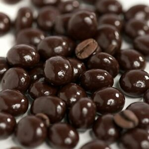 Dark Chocolate Covered Espresso Coffee Beans - 2 Lbs - COOL Pack Included