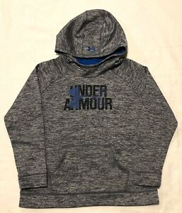 Girls UNDER ARMOUR COLD GEAR Loose Fit Sweatshirt Gray Black Blue Size YXL XL $10.99