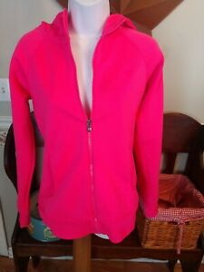 UNDER ARMOUR STORM SWEAT JACKET HOODIE FULL ZIP HOT PINK WOMEN'S SIZE S $16.00