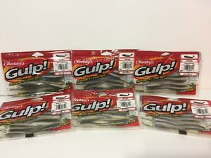 "6 packs Berkley Gulp Watermelon Pearl Minnow 3"" Soft Bait Fishing Lure 12ct pack"