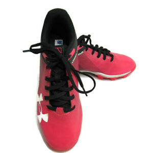 Under Armour Girls Youth Baseball Cleats Size 2Y Black Pink $18.88