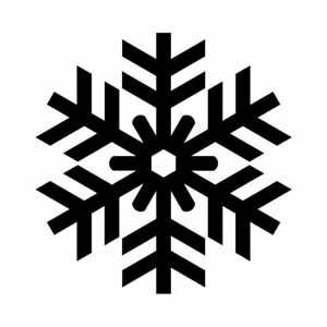 Snowflake 9 pack Decals vinyl wall decal sticker window door decor car laptop