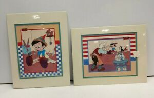 Set of Pinocchio Exclusive Commemorative Lithograph 1992 Disney Plastic Sealed $24.98