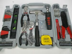 130 pc Tool Set & Case Auto Home Repair Kit DIY Stalwart Household Hand Tools