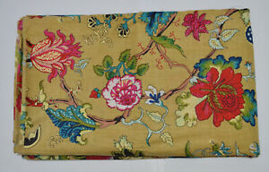 Indian 1 Yard Screen Print Sewing Cotton New Fabric Running Ethnic Loose Craft $7.99