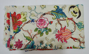 Indian 3 Yard Screen Print Sewing Cotton New Fabric Running Loose Ethnic Craft $13.99
