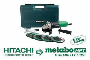 Metabo HPT Angle Grinder 4 1/2 Inch Includes 5 Grinding Wheels w/ Hard Case 62Am