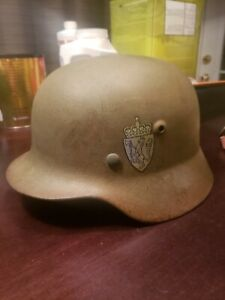 WW2 German Helmet M40 Issued To Norwegian Army