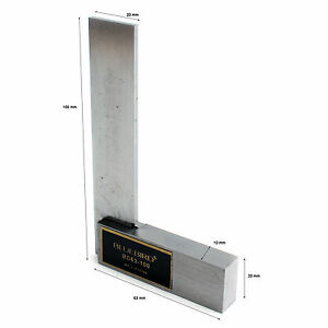 Right Angle Square Ruler Steel Wooden Storage Case 100×63mm BD63 100 $27.30