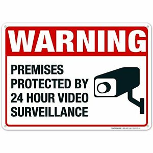 Video Surveillance Sign. CCTV Camera Warning Sign.