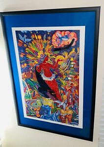 Michael Rios quot;The Queen of Feathersquot; Framed Matted Lithograph Signed $129.00