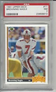 1991 Upper Deck Football #11 Browning Nagle RC PSA 7 $6.95