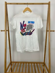 RARE VTG Michael Jackson We Are The World USA For Africa Promo T Shirt Size M