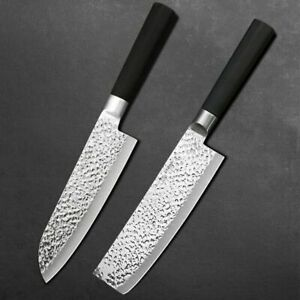 Japanese kitchen Knife set Damascus Laser Chef Cleaver Stainless steel Knives