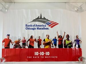 """Once in a Lifetime 10 10 10 Chicago Marathon Poster 36""""x24"""" The Date to Motivate"""