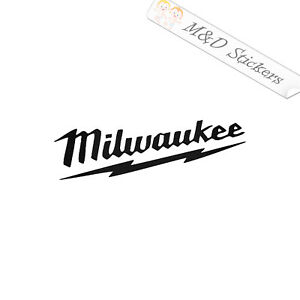 2x Milwaukee Logo Vinyl Decal Sticker Different colors & size for Cars/Bikes