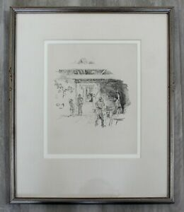 Antique 19th Century James McNeil Whistler Tyresmith Lithograph Framed 1800s $925.00