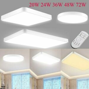 LED Ceiling Light Modern Dimmable Fixture Bedroom Kitchen Surface Mount Lighting