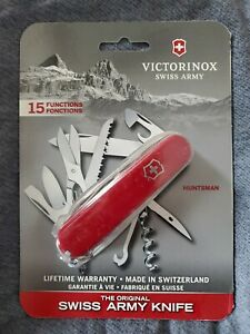 Victorinox Swiss Army  Huntsman  Red  Stainless Steel  3.5 in. Pocket Knife